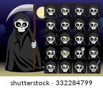 grim reaper cartoon emotion...   Shutterstock .eps vector #332284799
