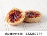 fresh homemade whole wheat... | Shutterstock . vector #332287379