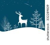 christmas forest background... | Shutterstock .eps vector #332289839