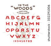 hand made rustic typeface 'in... | Shutterstock .eps vector #332291006