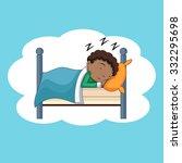boy sleeping  bedtime  vector... | Shutterstock .eps vector #332295698