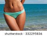 young attractive girl enjoys... | Shutterstock . vector #332295836