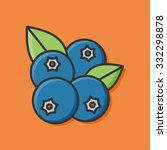 fruits blueberry icon | Shutterstock .eps vector #332298878