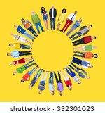 diverse people happiness...   Shutterstock . vector #332301023