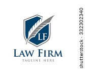 law firm vector template | Shutterstock .eps vector #332302340