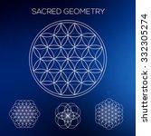sacred geometry. hipster...   Shutterstock .eps vector #332305274
