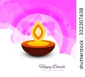 happy diwali beautiful card... | Shutterstock .eps vector #332307638