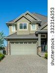 double doors garage with nicely ... | Shutterstock . vector #332316353