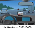 event data recorder drive... | Shutterstock .eps vector #332318450