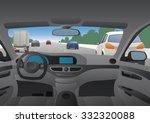 highway viewed from the motor... | Shutterstock .eps vector #332320088