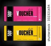 gift voucher template modern... | Shutterstock .eps vector #332321654