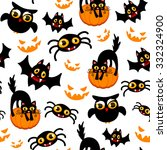 seamless halloween pattern | Shutterstock .eps vector #332324900