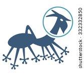 alien creature skafandr vector... | Shutterstock .eps vector #332332850