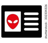 alien account card vector icon. ... | Shutterstock .eps vector #332334326