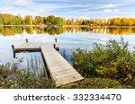 Stock photo lake bridge in autumn 332334470