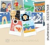 snapshot memories. vector mock... | Shutterstock .eps vector #332337668
