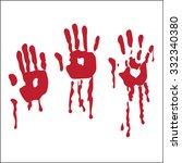 handprint blood hand ... | Shutterstock . vector #332340380