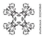 vintage baroque frame scroll... | Shutterstock .eps vector #332343860