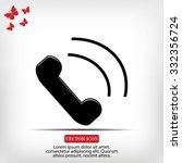 phone icon | Shutterstock .eps vector #332356724