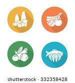 food flat design icons set....   Shutterstock .eps vector #332358428