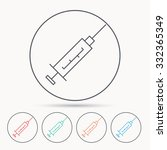 syringe icon. injection or... | Shutterstock .eps vector #332365349