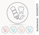 toothpaste icon. teeth health... | Shutterstock .eps vector #332365379