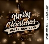 christmas typography label for... | Shutterstock .eps vector #332368304
