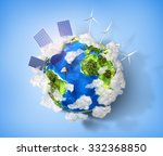 concept of green energy and... | Shutterstock . vector #332368850