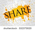 share word cloud  business...   Shutterstock .eps vector #332373020