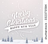 vintage christmas greeting card ... | Shutterstock .eps vector #332373584
