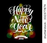 vector holidays lettering on... | Shutterstock .eps vector #332377874