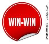 win win round red sticker...   Shutterstock .eps vector #332384624