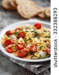 pasta with fresh tomatoes and... | Shutterstock . vector #332388293