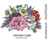 vintage vector card with... | Shutterstock .eps vector #332391260