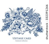 vintage vector card with... | Shutterstock .eps vector #332391266