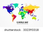 colored map of the world with... | Shutterstock .eps vector #332393318