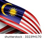 malaysia   flag of silk with...   Shutterstock . vector #332394170