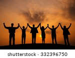 business people togetherness... | Shutterstock . vector #332396750