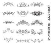drawing hand vintage frame... | Shutterstock .eps vector #332398664