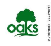 oaks logo template  | Shutterstock .eps vector #332398964