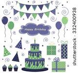 birthday party vectors   Shutterstock .eps vector #332400938