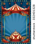 blue magic circus poster. a... | Shutterstock .eps vector #332401328