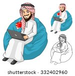 high quality middle eastern... | Shutterstock .eps vector #332402960