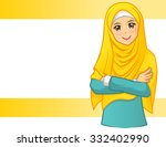 high quality muslim woman... | Shutterstock .eps vector #332402990