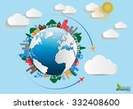 environment ecology infographic ... | Shutterstock .eps vector #332408600