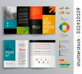 business brochure template... | Shutterstock .eps vector #332410109