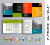 business brochure template... | Shutterstock .eps vector #332410154