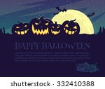 halloween party background. | Shutterstock .eps vector #332410388