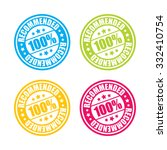 colorful recommended stamp... | Shutterstock .eps vector #332410754