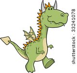 cute dragon vector illustration   Shutterstock .eps vector #33241078